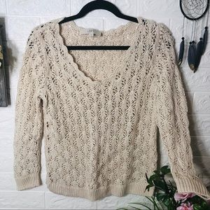 🌼3/$30🌼 NWOT Creme Woven Sweater